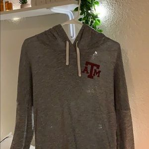 Pink Texas A&M pullover hoodie